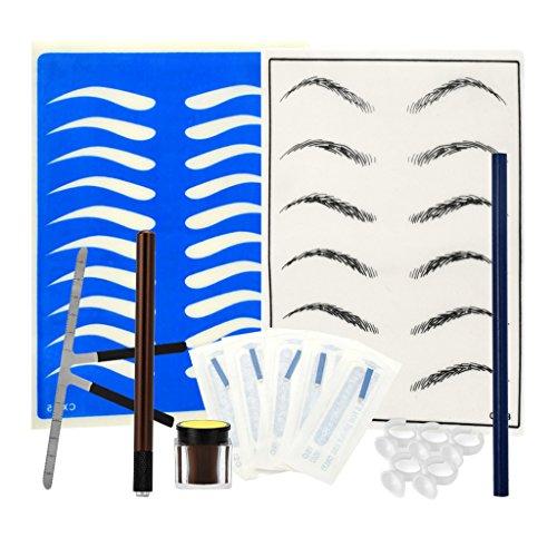 MERIGLARE Microblading Sourcil Permanent Makeup Tools Tweezer - Café