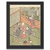 Printed Paintings Marco Americano (30x38cm): Ishikawa Toyomasa - Shō gatsuEl Primer Mes