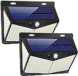Luz Solar de Exterior, 2 Paquetes Luces Solares 208 LED/ 3 Modos Lámpara...