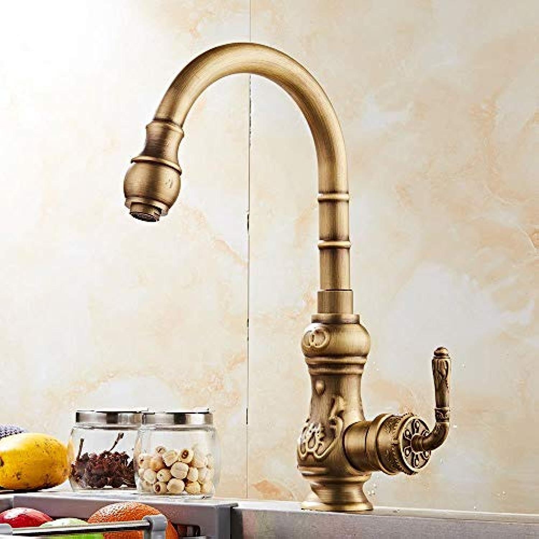Wasserhhne Waschtischarmaturen Wasserhahn Antike Küche Rotierenden Wasserhahn Druck Spüle Heien Und Kalten Wasserhahn Retro-Becken Wasserhahn