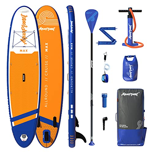 Aquaplanet 10ft 6' x 15cm MAX Stand Up Paddle Board kit. Air Pump with...