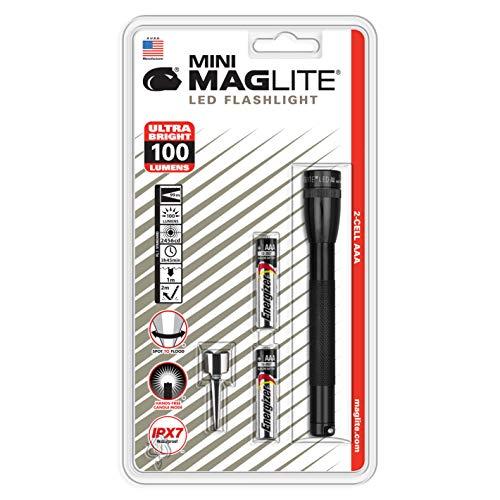 Maglite SP32016- Linterna LED Mini, 2 Pilas AAA, 12.5 cm, color negro