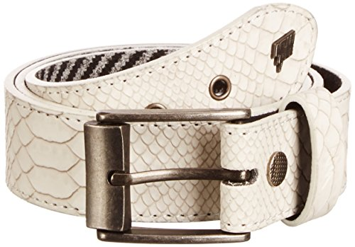 Lowlife of London Adder - Ceinture - Mixte - Blanc - Small (Taille fabricant: Small)
