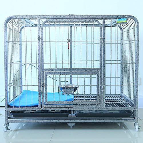 Schwere Hunderahmen Holzkiste, Zwinger Für Small Medium Hund, Indoor Large Bold Square Tube Hundekäfig Pet Cage Dog House, XXL,Silber