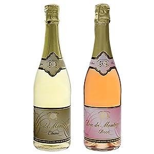 スタッセン デュク・ドゥ・モンターニュ ノンアルコールスパークリングワイン 750ml 2種(白・ロゼ)セット