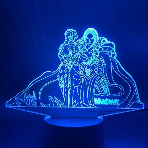 Nur 1 Stück 3d Led Nachtlicht Lampe Spiel Spiel Film Hexe Figur Kinder Schlafzimmer Dekor Kind Geschenk Nachtlicht Bett