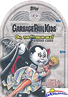 2018 Topps Garbage Pail Kids Series 2 OH THE HORROR-IBLE EXCLUSIVE Factory Sealed Value Box with Special BATHROOM BUDDIES STICKERS! Look for Auto, Sketch Cards & Printing Plates! Brand New! WOWZZER!