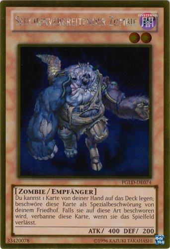Yu-Gi-Oh Holo Seuchenverbreitender Zombie PGLD-DE074 gold rare