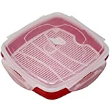 Vented Microwave Steamer Microwave Steamer For Vegetables, Rice, and Fish, Bpa Free by EXULTIMATE (Red)