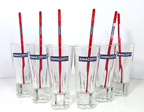 Ramazzotti Gläser Set ? 6x Ramazzotti Gläser 0,3L + 6x Stirrer