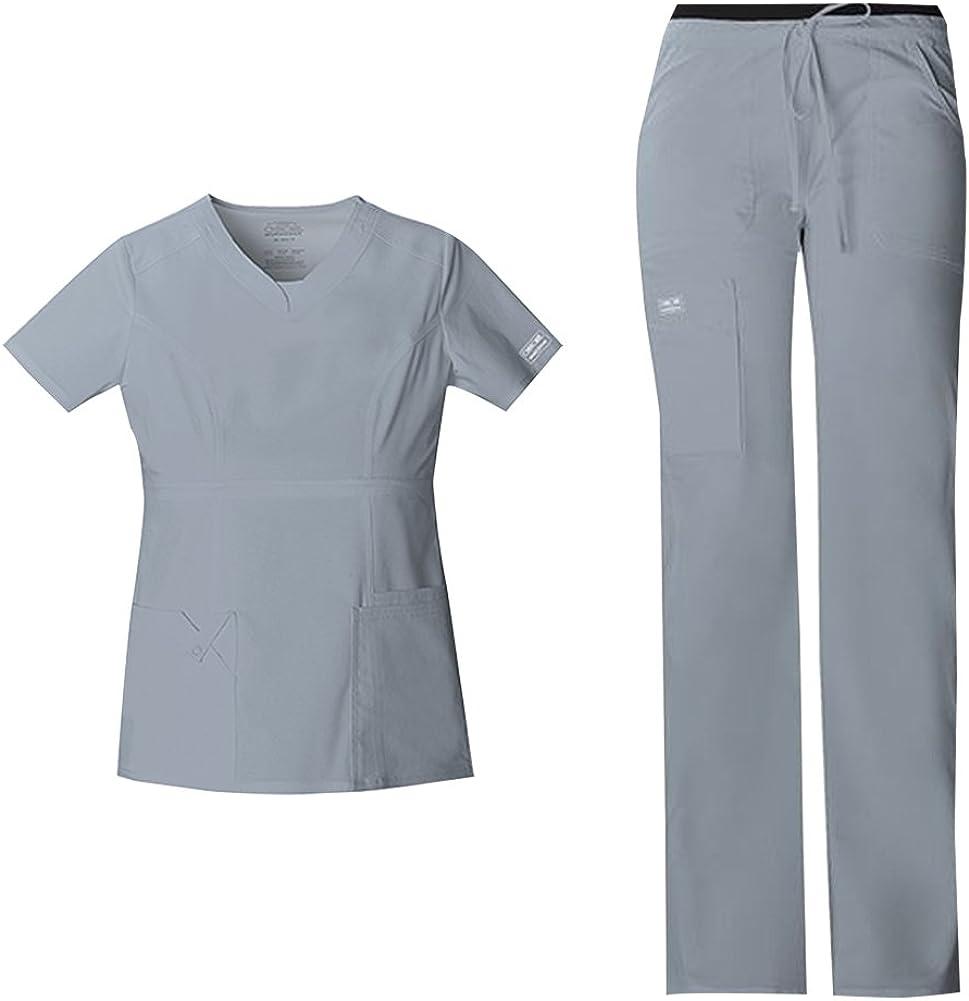 CHEROKEE Women's Workwear Core Year-end annual account Stretch Genuine T Fit Junior Scrub V-Neck