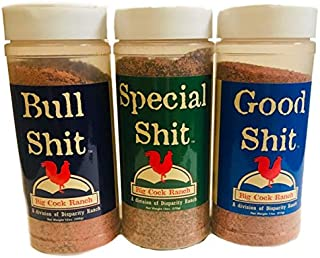 Special Shit Seasoning Variety Pack   12 oz Each of Special Shit, Bull Shit, and Good Shit