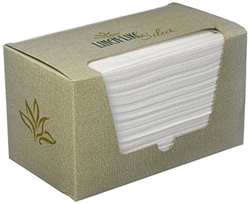 """Hoffmaster 856460 Linen-Like Select Guest Towel, 1/6 Fold, 17"""" Length x 12"""" Width, White (Case of 500)"""