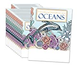 10 Pack | Oceans: Stress Relieving Coloring Book for Adults, Teens, Seniors and Kids. 24 Creative and Beautiful Designs. Great Giveaways