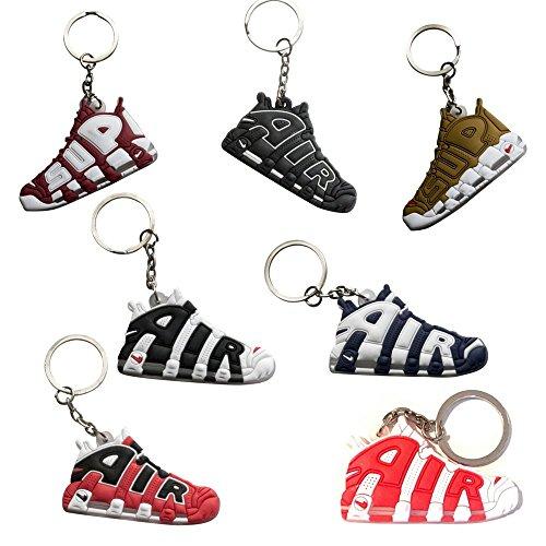 Nsi Industries mini sneaker Keychains–rare Air Packs–Gomma/silicone 2D retro sneakers scarpa da basket portachiavi–perfetto Sneakerhead idea regalo, Uptempo, Small