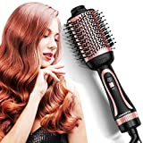 JOMARTO Hair Dryer Brush, 3 In 1 Multifunction Hair Dryer & Volumizer Hot Air Brush, Hot Air Comb,...
