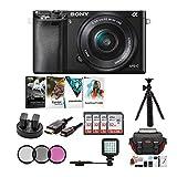 Sony Alpha a6000 Mirrorless Camera w/ 16-50mm Lens & Four 32GB SD Card...
