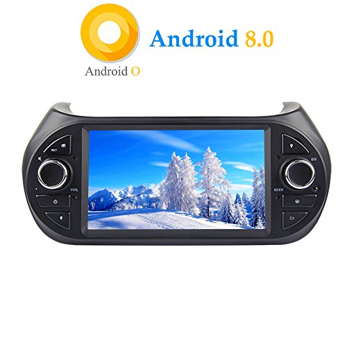 XISEDO Android 8.0 in-Dash 1 Din 7 Pouces Autoradio Voiture Radio à Écran Tactile 8-Core RAM 4G ROM 32G Car Radio Système de Navigation GPS pour Fiat Qubo/Fiat Fiorino/Peugeot Bipper/Citroen Nemo