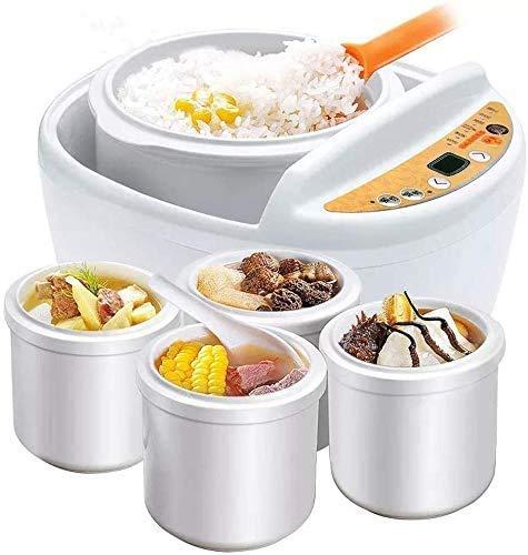 Arrocera, eléctrico multi-vapor del alimento, 1-Paso automático de porcelana blanca eléctrico guisada caldera, for los cocineros de arroz blanco, arroz integral, quinoa, harina de avena y FEOPW KaiKai
