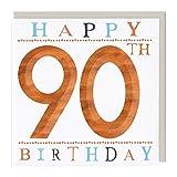 Whistlefish Birthday Card - 90th Birthday 3D