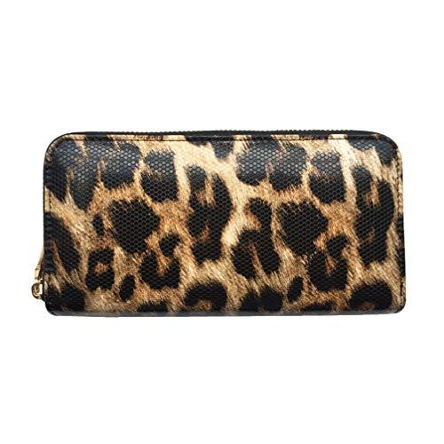 SOIMISS Carteras de Leopardo para Mujer Animal Print Purse PU Cuero Tarjetas...