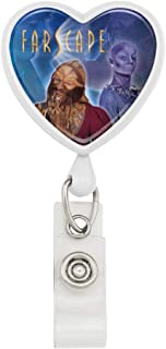 Farscape Crew Zhaan and Ka D'Argo Aliens Heart Lanyard Retractable Reel Badge ID Card Holder