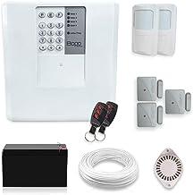 Kit Alarme Residencial ou Comercial 5 Sensores Sem Fio Bopo com Discadora e Bateria para Back Up