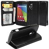 Coolpad Rogue Case, Coolpad Rogue Wallet Case, SOGA [Pocketbook Series] PU Leather Folio Flip Wallet Case for Coolpad Rogue 3320A (T-Mobile) - Luxury Black