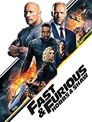 Promotional image for Fast and Furious: Hobbs and Shaw showing Jason Statham and Vin Diesel with other cast members