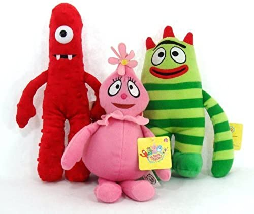 (3 Piece Set) LARGE Yo Gabba Gabba Plush Doll Toy - BROBE MUNO & FOOFA by Yo Gabba Gabba
