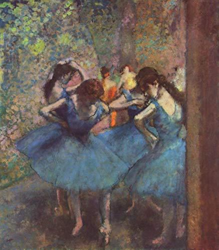 Pintura digital por número para adultos Edgar Degas famosos bailarines de pintura en arte azul para decoración de pared del hogar