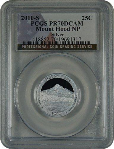 2010 S National Parks Mount Hood Silver Quarter DCAM PCGS PR-70