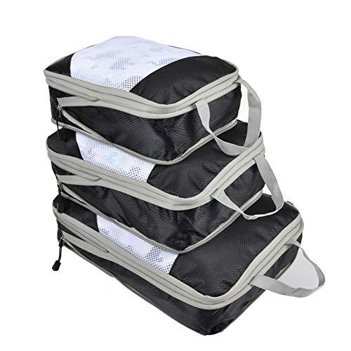 Demarkt - Organizador de maletas, bolsas para ropa, cubos de embalaje, bolsas de almacenamiento, ideal para sacos de mar, equipaje de mano y mochilas Negro