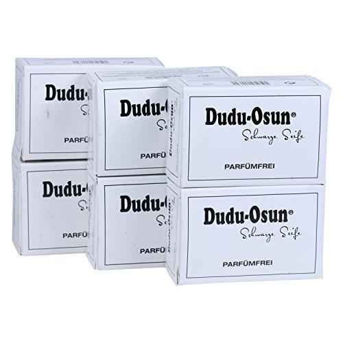 Dudu-Osun Pure (parfümfrei) - Schwarze Seife aus Afrika (6 x 150 g)