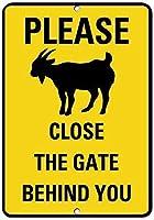アルミニウム金属目新しさ危険サイン、後ろのゲートを閉じてください