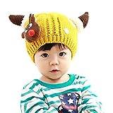 iSpchen Butterme Netter Winter Baby Ni?os Chica Joven Invierno Sombreros Gorro de Punto Sombrero Lana Sombrero Amarillo Amarillo Tama?o Libre