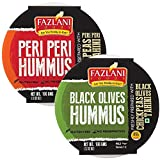 Ready to Eat Peri Peri and Black Olives Hummus Sauce dip Low Fat, Gluten Free - Pack of 2, 100gm Each