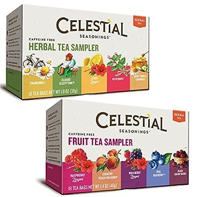 Celestial Seasonings Herbal Tea Flavor Bundle: 2 Boxes; Herbal Tea Sampler, Fruit Tea Sampler from Celestial Seasonings