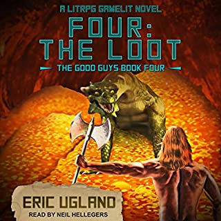 Four: The Loot: A LitRPG/GameLit Novel audiobook cover art