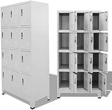 vidaXL Locker Cabinet Steel 12 Compartment Storage Office Sport Changing Room