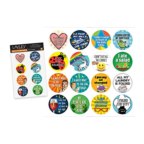 16 Adult Reward Funny Stickers (Adulting Achievements) - Perfect Gag Gift for White Elephant and...