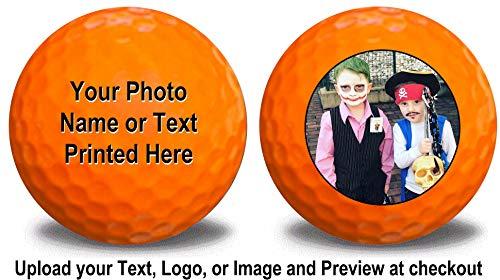 1 Dozen Orange Golf Balls Upload Your Logo or Text (Orange)