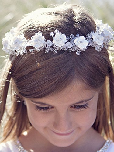 FXmimior Head Piece Flower Girl Wedding Crystal Rhinestones Headband Hair Accessories Headwear (2)