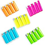 Xuper Color | 20 Pack Neon Single Jet Flame Torch Lighters Multi Color Flame Windproof Adjustable and Butane Refillable