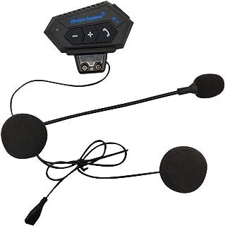 Garneck Intercomunicador para capacete de motocicleta, fone de ouvido sem fio, comunicação para esqui, motocicleta, acampa...