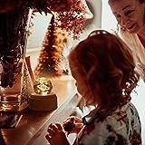 DUTISON Kristallkugel Spieluhr, 360° Rotierende hölzerne Spieluhr mit Licht, Beleuchtete Projektionsfunktion, Geschenk für Weihnachten, Erntedankfest, Geburtstag - 4