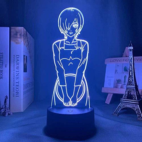 Anime Light Tokyo Ghoul Touka Kirishima, luz de noche Led para, regalo de luz nocturna, lámpara 3d de Tokyo Ghoul, Touka Kirishima