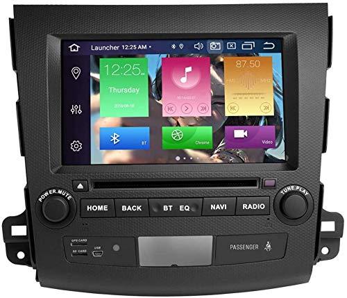 WGFGXQ für Mitsubishi Outlander 2007-2011 Android 10.0 Octa Core 4 GB RAM 64 GB ROM Autoradio Stereo-GPS-System Unterstützung für Auto-Multimedia-Player Auto Auto Play/TPMS / 4G Wi