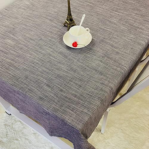 DSman Tischwäsche Tischdekoration Tafeltuch Uni einfarbig pflegeleicht waschbar Reines wasserdichtes Leinen