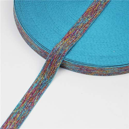 1 Yard Elastic Band 1 Inch Colorful Glitter Rubber Bands for Headband Durable Pants Skirt Belt Sewing Clothing Accessories-Elastic Bands Elastic Tape DIY Garment Accessories for Making Headband Cloth